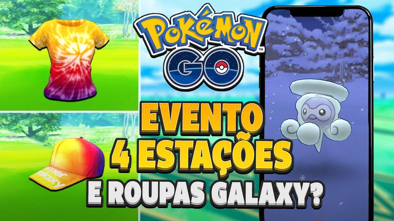 Novo evento 4 Estações, Roupas Galaxy e mais Equipe Rocket! | Pokémon GO