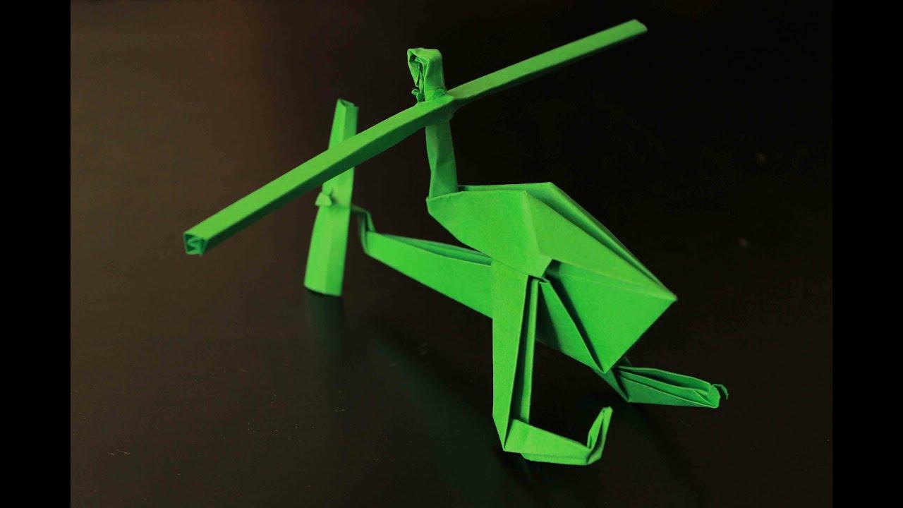 Como Hacer Un Helicóptero De Papel Que Vuela Mucho Origami Helicóptero Youtube