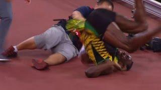 LA CAÍDA DE USAIN BOLT TRAS GANAR LOS 200 METROS -Mundial de atletismo Pekin 2015