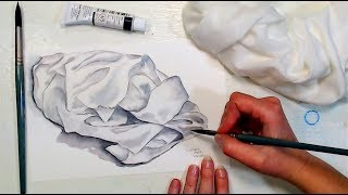 How To Paint Fabric in Watercolor // 12:30pm ET