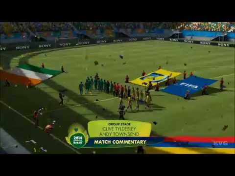 2014 FIFA World Cup Brazil - Colombia vs Ivory Coast Gameplay [HD]