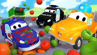 Малыш Мэт - Автомойка Эвакуатора Тома в Автомобильный Город 💧 детский мультфильм