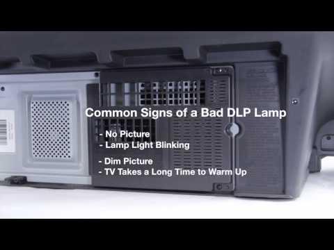 Mitsubishi DLP TV Repair - Bad DLP Lamp - How to Fix Common DLP Lamp Issues in Mitsubishi DLP TVs