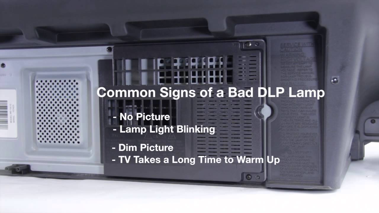 Mitsubishi DLP TV Repair - Bad DLP Lamp - Fix Common DLP Lamp ...