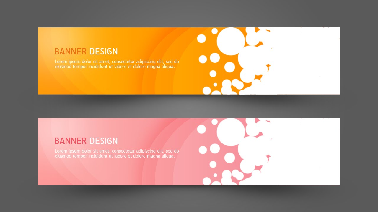 photoshop tutorial web design simple banner youtube - Banner Design Ideas