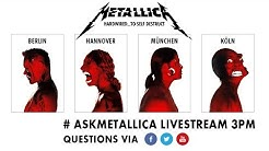 #AskMetallica Livestream Fan Chat | Nov 16th 3pm CET