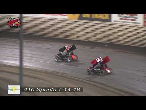 Knoxville Raceway 410 Highlights - July 14, 2018