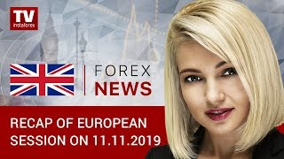 InstaForex tv news: 11.11.2019: GBP gains ground despite weak economic reports (GBP, USD, EUR)