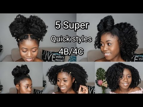 Awesome Low Tension Styles On My 4c Natural Hair Quick And Easy