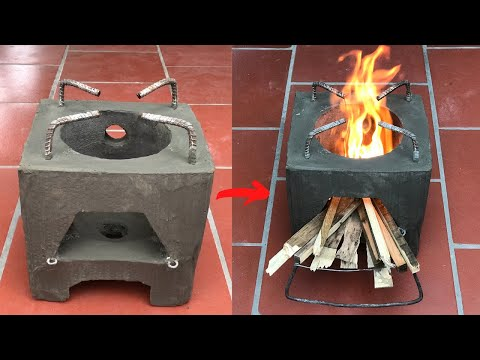 How to make a smart and creative firewood stove
