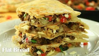 Ground Beef and Feta Flatbread