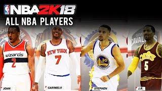 Nba 2k18 - all nba players & teams (all nba roster teams)