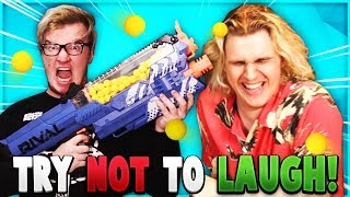 Try Not To Laugh Challenge - NERF Special