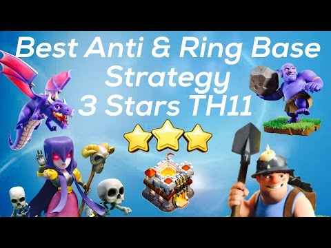 Clash Of Clan 🌟 3 Stars TH11 With Miner,Witch,Bowler,&Dragon 🌟 Anti & Ring Island Bases Strategy🌟