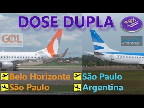 [FSX] DOSE DUPLA BOEING 737-800 | Confins ✈ Escala Guarulhos ✈ Argentina
