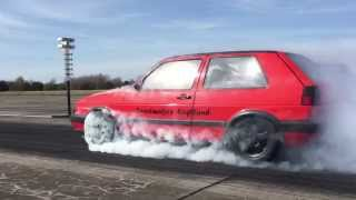 1200hp VW Golf Mk2 R33 Turbo 4motion Speedmakers - Vogtland TTT Test & Tune 12.04.2015