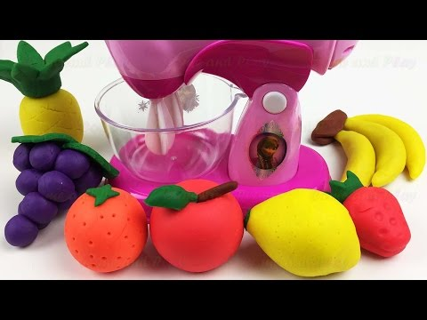 Thumbnail: Blend Play Doh Fruits into Clay Slime Fun Learning Colors with Surprise Toys Creative for Kids