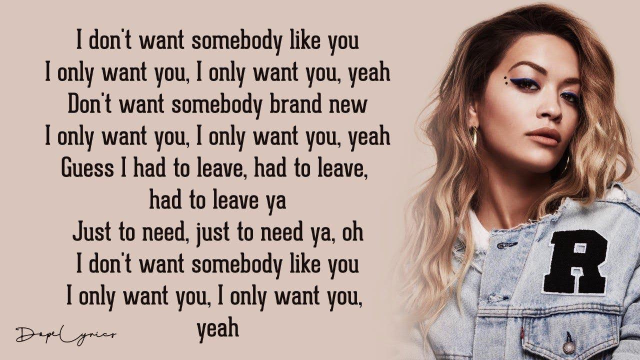 zum halben Preis ungleich in der Leistung suche nach neuesten Only Want You - Rita Ora (Lyrics) 🎵 Chords - Chordify
