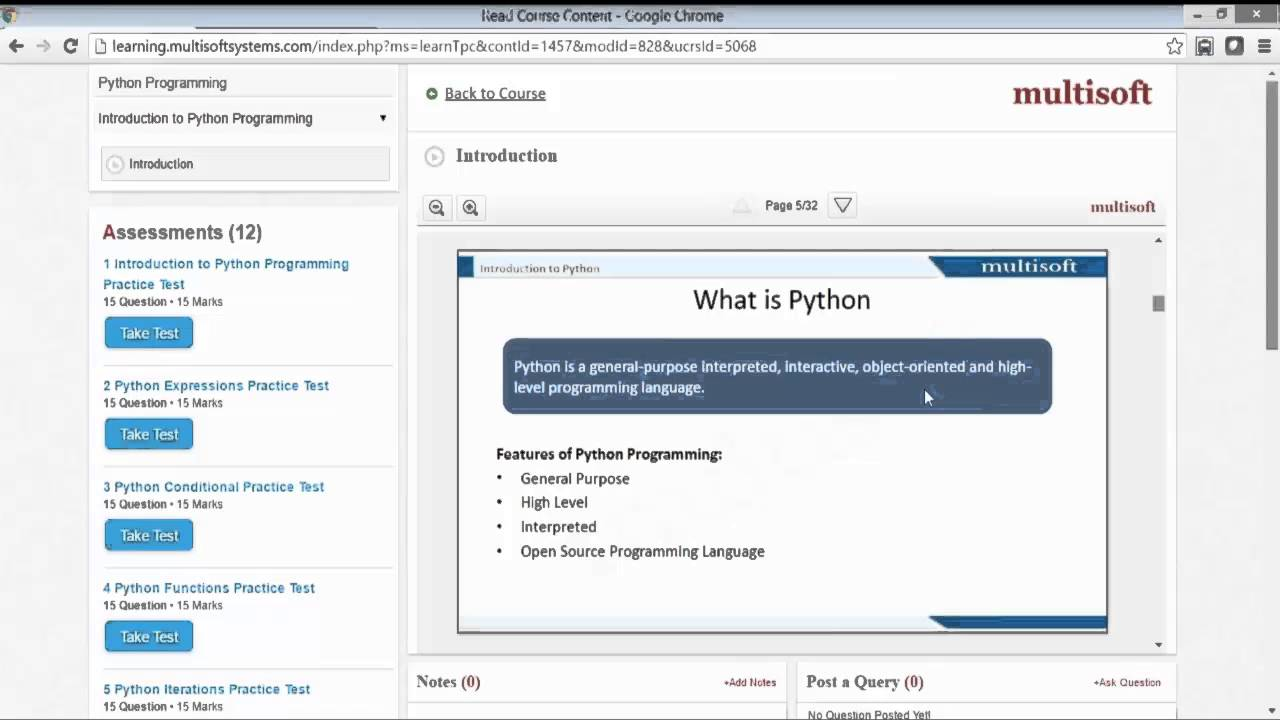 Overview of Python Training Video By MultisoftSystems