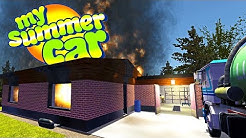 MY SUMMER SAUNA FIRE! WE SHOULDN'T HAVE LEFT THE SAUNA ON - My Summer Car Gameplay Highlights Ep 93