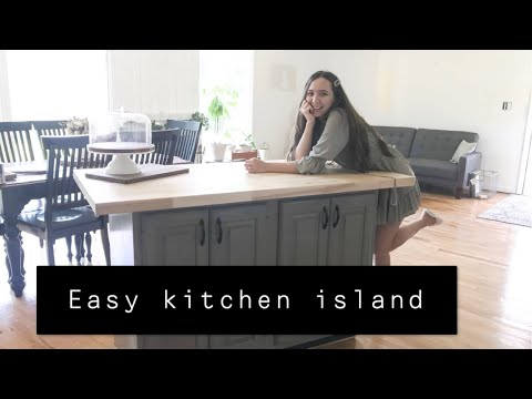 How to make a kitchen island! You can make this for FREE!
