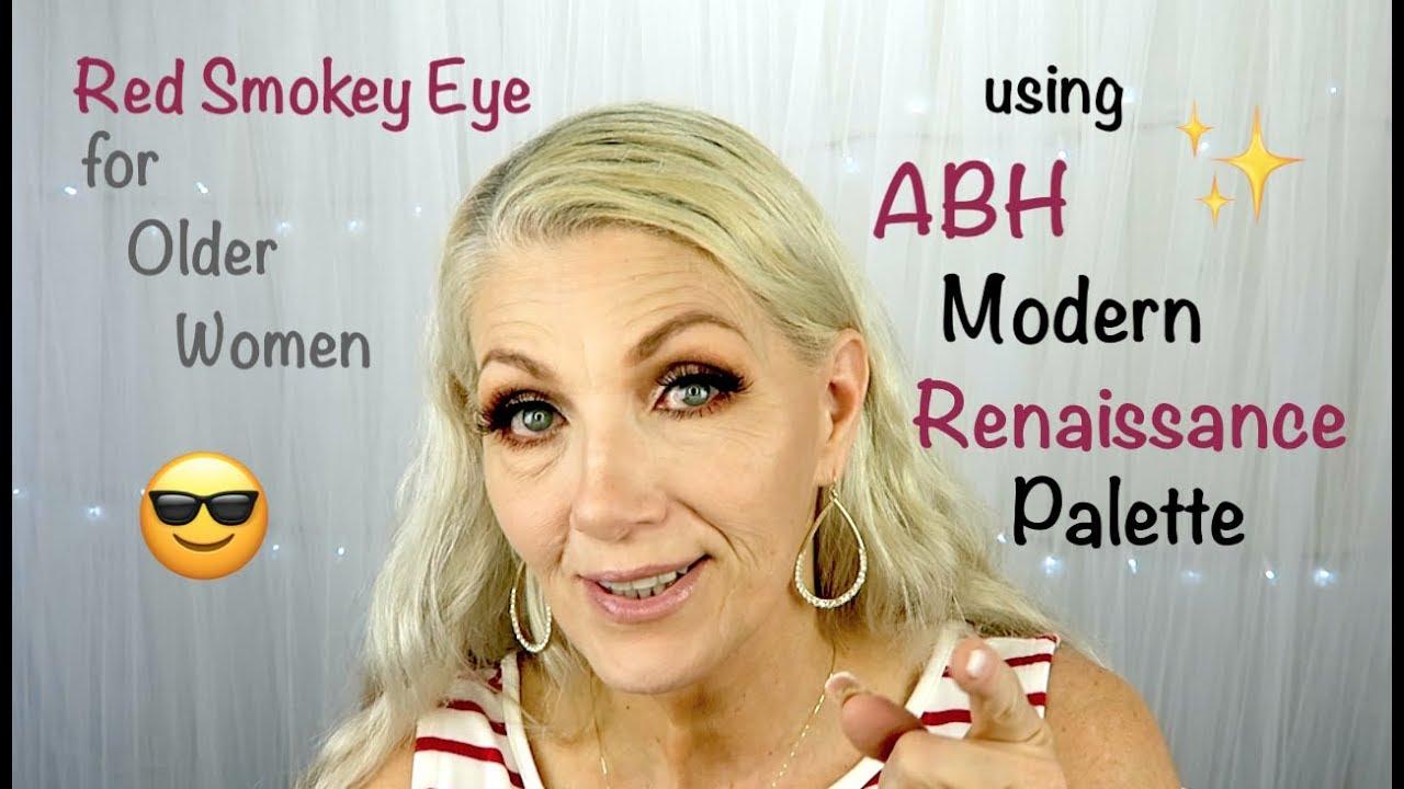Red Cut Crease Smokey Eye for Older Women - BentlyK