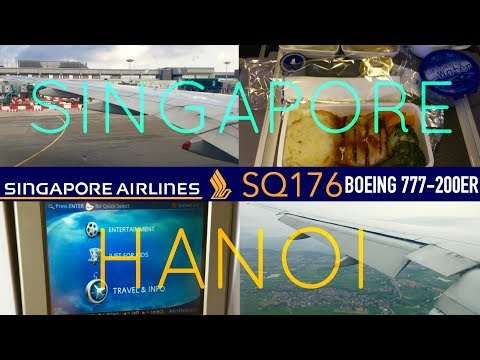 Singapore Airlines SQ176 : Flying from Singapore to Hanoi