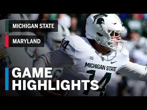 Highlights: Michigan State Spartans vs. Maryland Terrapins | Big Ten Football