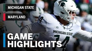 Highlights: Michigan State Spartans Vs. Maryland Terrapins   Big Ten Football