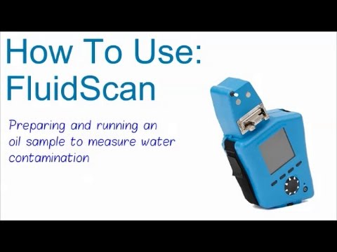 Measuring water contamination in oil with the FluidScan