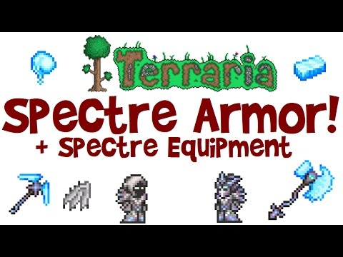 Terraria Spectre Armor, Hood vs Spectre Mask, Pickaxe, Ghost Wings & Spectre Bars! (PC 1.3 & others)