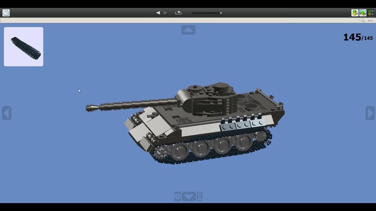 lego panther tank moc v2 0 w instructions youtube