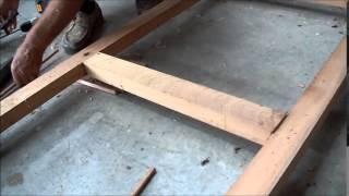 Construction D'une Façade à Croisillons