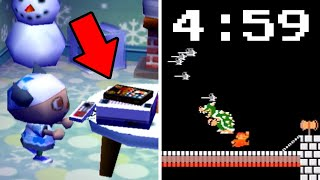 Speedrunning Super Mario Bros. INSIDE Animal Crossing?!