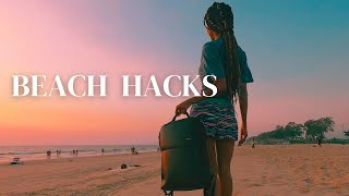 Beach Hacks | How To Keep Your Items Safe While You Swim | Jinal Inamdar