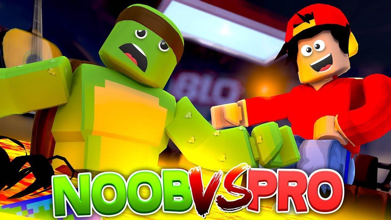roblox noob vs pro in a new roblox