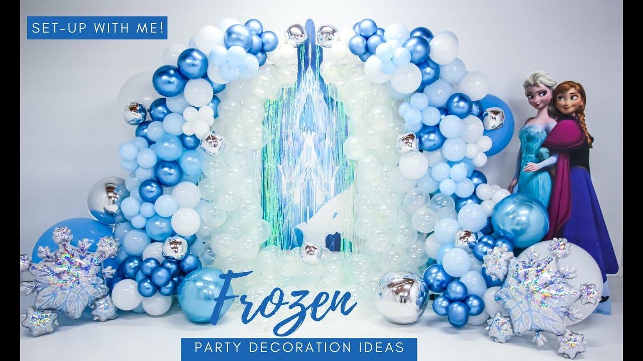 Frozen Party Decoration Ideas Diy Youtube