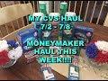 MY CVS MONEYMAKER HAUL 7 2 7 8
