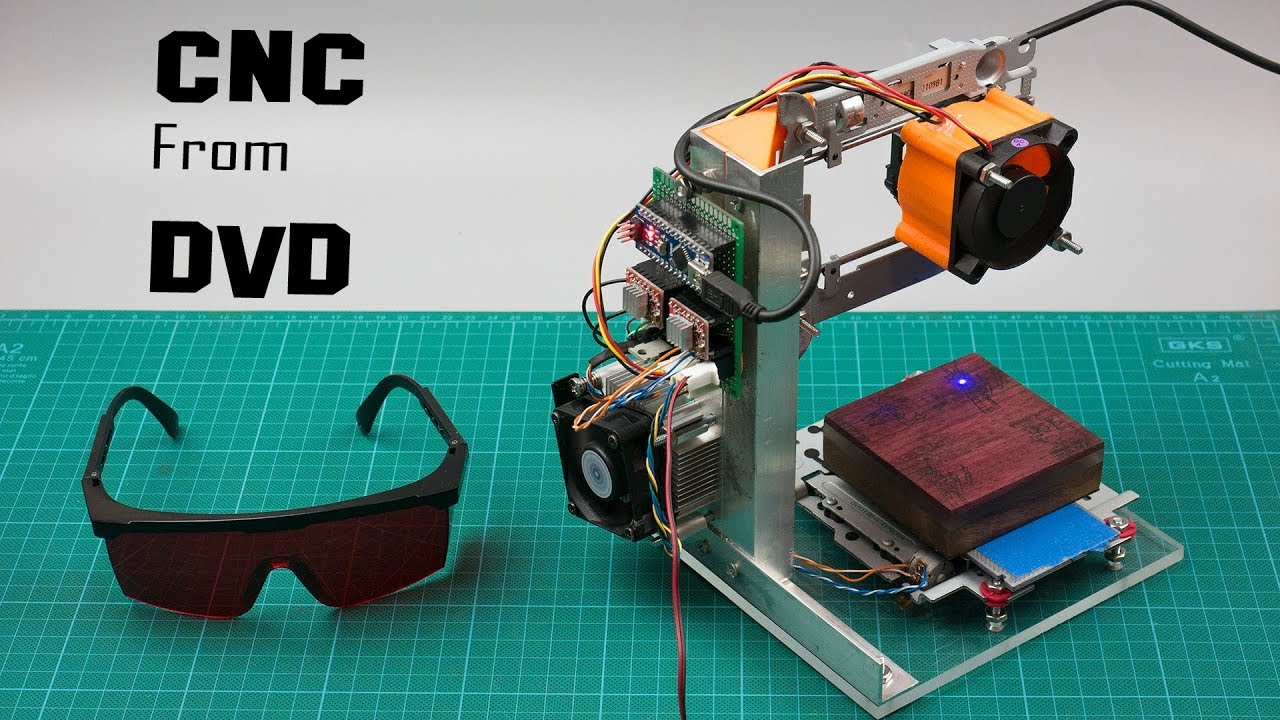 Diy arduino based cnc laser engraver from dvd drive youtube