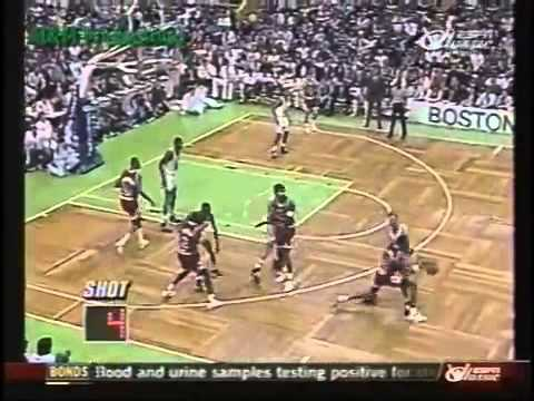 Michael Jordan gets shot blocked 4 times by Reggie Lewis