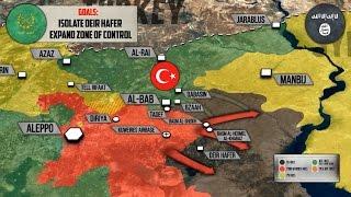 24 февраля 2017. Военная обстановка в Сирии. Турки отбили Эль-Баб у ИГИЛ. Русский перевод.