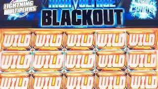 HIGH VOLTAGE BLACKOUT SLOT - LIVE PLAY - MAX BET BONUS! - Slot Machine Bonus