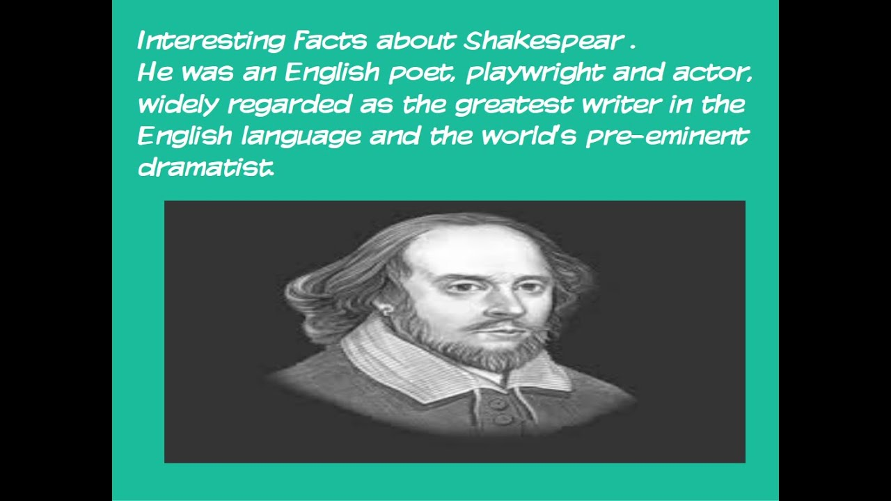 Interesting facts about Shakespeare (Daily Video Lesson) - YouTube