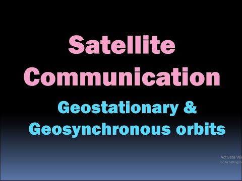 Satellite Communication (geostationary and geosynchronous orbit) [HD]