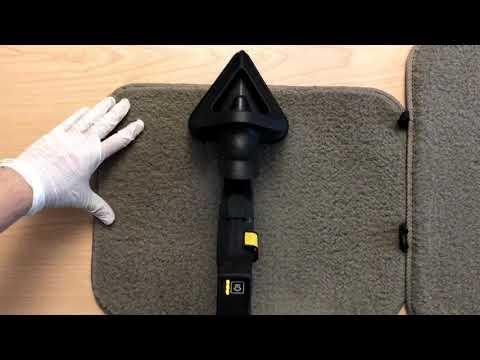 Steam cleaning car carpet floor mats clip 3