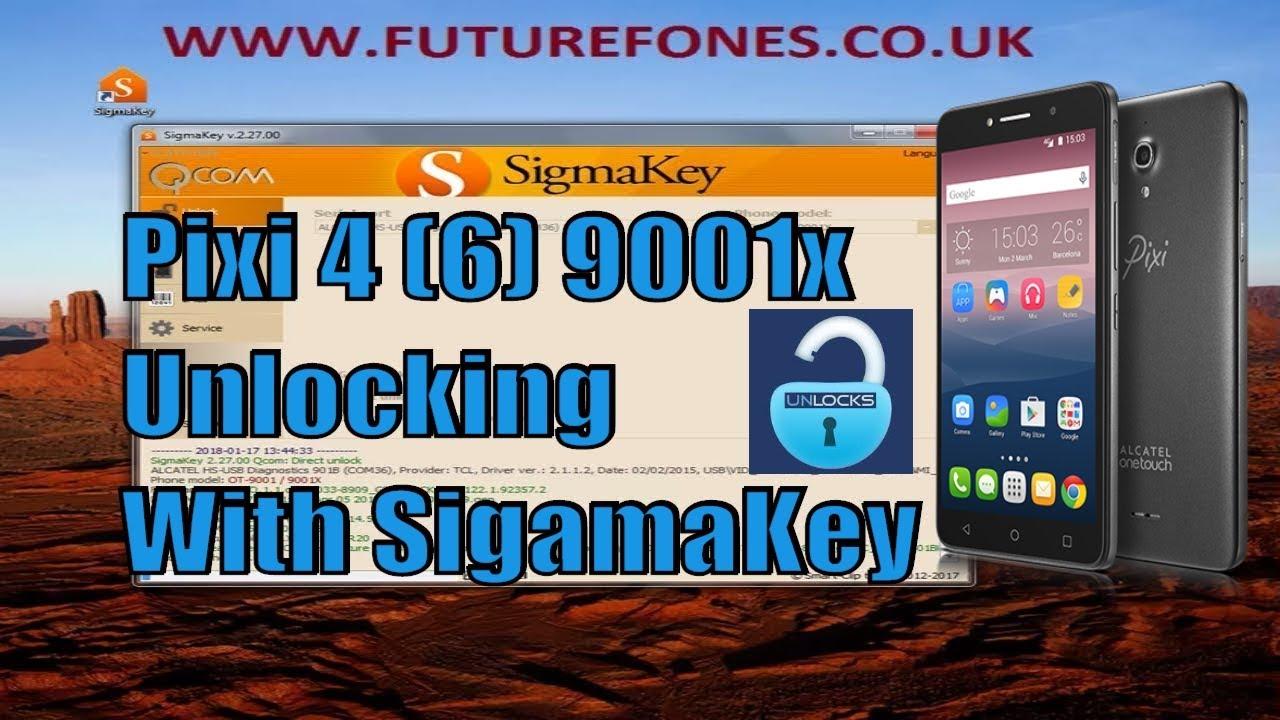 How to Unlock Alcatel 9001x Pixi 4 (6) With SigmaKey