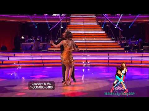 Dancing With The Stars: Zendaya and Val - Week 2