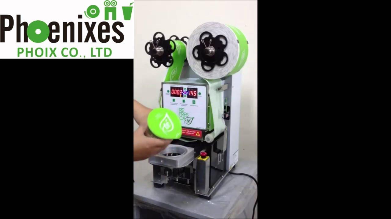 Plastic Cup Sealing Machine Bubble Tea Juice Yogurt