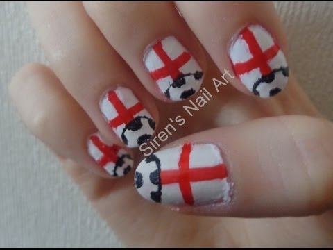 Easy England World Cup Nail Art Youtube