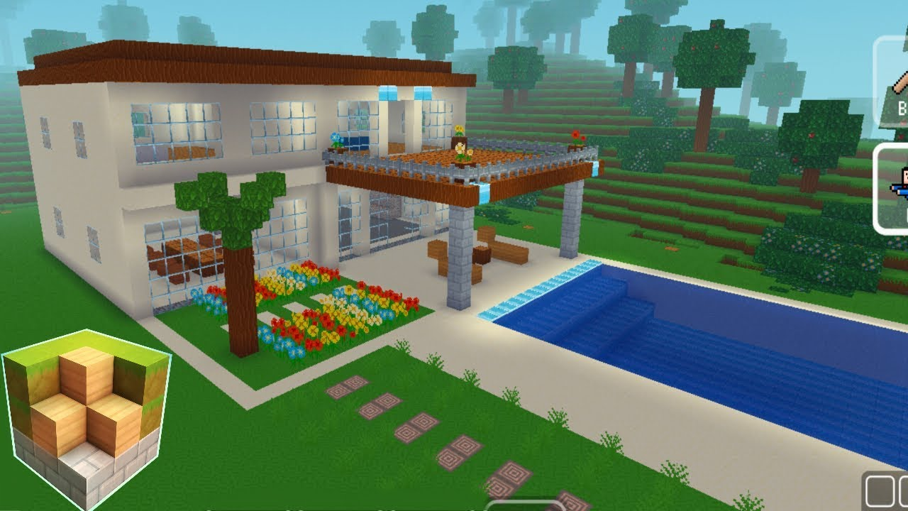 Block Craft 3d Mobile Gameplay Easy Modern House Youtube